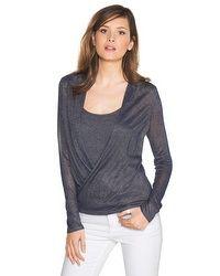 Shimmer Surplice Sweater