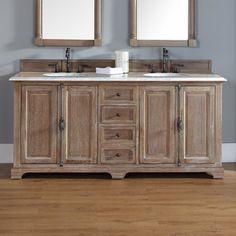Found it at Wayfair - Providence Double Driftwood Bathroom Vanity Set 72 Bathroom Vanity, Bathroom Vanities Without Tops, Vanity Set, Bathroom Ideas, Brown Bathroom, Bath Ideas, Bathroom Remodeling, Corner Vanity, Condo Bathroom