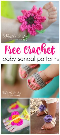 Free crochet baby sandal patterns...so cute for spring or summer!