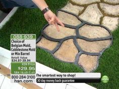 Do-It-Yourself Cobblestone-Look Walkway Molds from Pathmate
