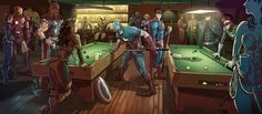 DC and Marvel at the bar