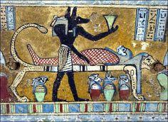 Kemet- Anubis tending to the mummy for mummification.life after death. Ancient Egypt Mummies, Ancient Egypt Civilization, Ancient Egyptian Art, King Tut Tomb, Life In Egypt, Egypt Mummy, Book Of The Dead, Anubis, Rey