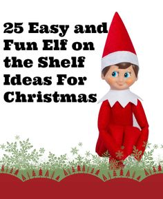 Looking for Ideas for your elf on the shelf? Well you are in luck! Here is a list and photos of LOTS of ideas for you!! EASY Elf on the Shelf Ideas for the Christmas Season Finger Painting Elf on the Shelf Elf on the Shelf Castle Take over   Elf on the Shelf …