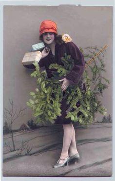 Fun idea for Christmas Photo's with vintage flair Noel Christmas, Merry Little Christmas, Retro Christmas, Christmas And New Year, Xmas, Christmas Shopping, Christmas Decor, Christmas Ideas, Christmas Vignette