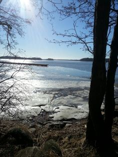 An icy fjord in Finland #Finland #Espoo #fjord