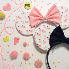 Fun Flamingo Mouse Ears by ShopHouseOfMouse on Etsy