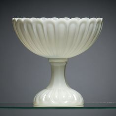 1860's Sandwich Loop Milk Glass Compote