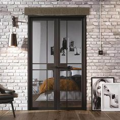 The Greenwich Black Primed Doors feature a modern glass design that will complement both traditional and more contemporary interiors. Ready to be treated and coloured in any style of your choice. Glass Room Divider, Room Divider Doors, Room Dividers, Room Doors, Internal French Doors, Double Doors, Glass Design, Door Design, Primed Doors