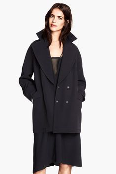 This Is The Easiest Lazy-Girl Hack To Dressing #refinery29  http://www.refinery29.com/all-black-clothing-fall-2014#slide9  The Wool Topper Keep warm and cozy in a double-breasted peacoat that will seriously go with everything.