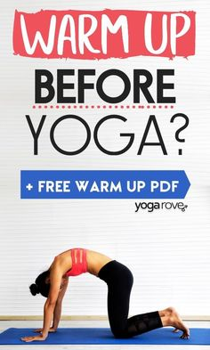 I always wondered if I should warm up before yoga! Ha. This is such a great article for beginners and it also includes a beginner yoga routine to warmup your body. Yoga Routine For Beginners, Easy Yoga Poses, Yoga For Flexibility, Yoga At Home, Yoga Photography, Free Yoga, Yoga For Weight Loss, Yoga Tips, Intense Workout