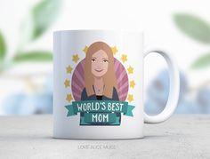 Mothers Day Gift Mom Gift Coffee Mugs Cute Mugs by lovealicemugs