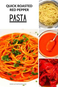 A creamy flavorful roasted red pepper pasta made with a homemade red pepper vegan pasta sauce and your choice of pasta. This makes for a healthy, wholesome, mid-week meal that can be made in just ten minutes (once the sauce is prepared), or under 40 minutes entirely from scratch. Make a large batch of the sauce and freeze for a quick meal, whenever needed!