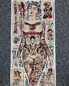 New classic art tattoo drawings ideas Pin Up Tattoos, Body Art Tattoos, Tattoo Drawings, Girl Tattoos, Sleeve Tattoos, Desenhos Old School, Tatto Old, Old School Tattoo Designs, Traditional Tattoo Design