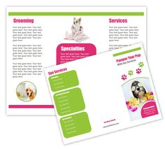 Veterinary Clinic Brochure Template By Stocklayouts  Pets