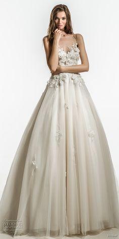 jillian 2018 bridal sleeveless illusion jewel sweetheart neckline heavily embellished bodice romantic a  line wedding dress sheer button back chapel train (11) mv -- Jillian 2018 Wedding Dresses