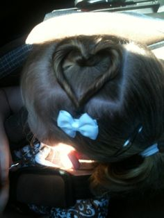 Zoey's hair in the shape of a heart