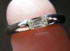 Diamond Ring   Emerald Cut Diamond Ring   Platinum Ring. Add pave down the sides and would be so beautiful