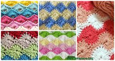 Crochet Increased Stitch Free Patterns: Star Stitch, Catherine Wheel Stitch, Shell Stitch, Clamshell Stitch, Scallop Stitch, Arcade, Harlequin Stitch