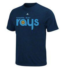 Tampa Bay Rays throwback heathered Navy T-Shirt
