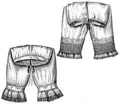 Stitches Through Time: Split Drawers  civil war era