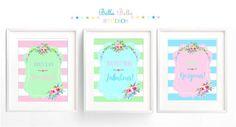 Set of 3 Floral 8x10 Prints  Printable by BellaBellaStudios