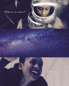 """Where to, miss?"" The stars. 