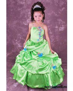 Barbie Mädchenkleid Blumenmädchen Kleid in Mint  www.modekarusell.eu