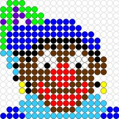 Kralenplank Zwarte Piet 2