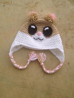 Happy Hamster Crochet Hat. FREE Ravelry Pattern Download