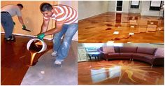 Here is a fun one. I hope you have a remodel planned because you are going to want to rip up a floor so you can have your very own metallic epoxy floor. Epoxy floors are a newer trend that I am onboard with. What are epoxy floors? Epoxy Floor Diy, Metallic Epoxy Floor, Diy Epoxy, Home Design, Floor Design, Luxury Flooring, Diy Flooring, Garage Boden, Marble Floor