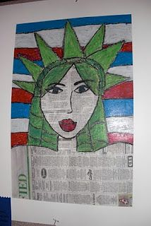 Miss Teddy's Student's Artwork: Statue of Liberty