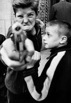 Gun 1, New York 1955 © William Klein. On view till the 12th of March 2014. More info on the exhibition in Foam: http://www.foam.org/visit-foam/calendar/2013-exhibitions/william-klein