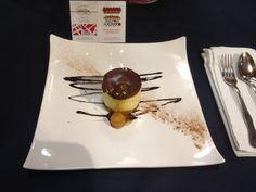 Semifrio de naranja y chocolate puro. Restaurante Navarro de Amadeo I #jornadasPOPCastellón