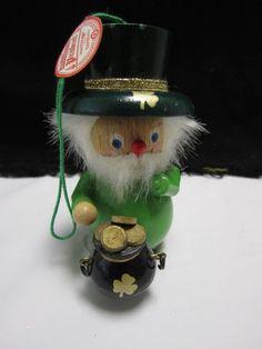 Steinbach Nutcracker Christmas Ornament Irish Leprechaun Pot Of Gold