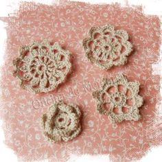 Flores de Crochê - Oficina de Memórias - cor Cru