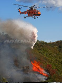 """""""Gypsy Lady"""" in action on forest fire in the Imperia's hinterland. [Canon + Canon EF USM] - Photo taken at Pantasina [OFF AIRPORT] in Italy on October Helicopter Plane, Helicopter Pilots, Military Helicopter, Women's History, British History, Ancient History, American History, Native American, Jet Fighter Pilot"""