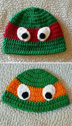 db31717ef78  Free Crochet Pattern  These Seamless Ninja Turtle Hats Will Make A Lot Of  Little Boys (And Girls) Very Happy