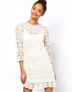 ASOS | ASOS Shift Dress In Crochet Lace at ASOS