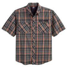 $65 @ Harley Davidson.               Men's Performance Short Sleeve Plaid Woven Shirt