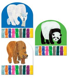 ON SALE NOW!!! The Bear Books Good Work Holders - Use these famous Eric Carle characters to display student work! These are a QuickStick product, so you can stick the student work right to them. No glue or tape required!