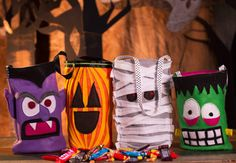 Holloween Treat-bags on Creativebug - Instructional video on how to create your own holloween bags (Tip - stuff and sew the top closed for a great accent pillow!) @creativebug #creativebug #imadethis