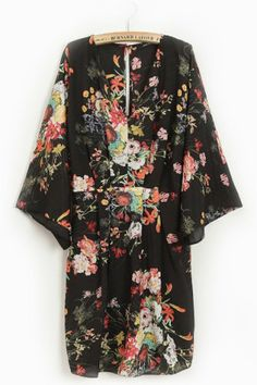 Garden Girl V-neck Floral Print Dress Floral Prints 93a839119