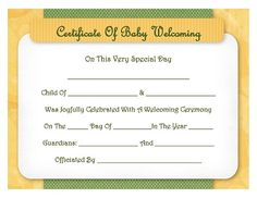 Baptism Certificate  Free Template  Prayers Quotes Scripture