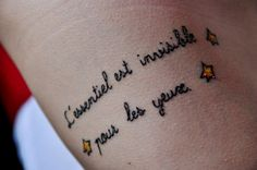 french quote tattoo ohwoah hipster little prince le petit prince