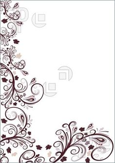 Borders for paper, floral border, border design, book of shadows, decorative frames Flower Design Images, Flower Designs, Border Design, Pattern Design, Simple Website, Borders For Paper, Fashion Design Sketches, Floral Border, Elements Of Art