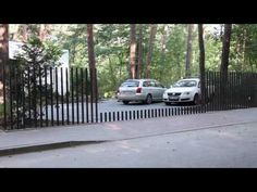 Tesla Retractable into the Ground Gate? Fence Gate Design, Modern Fence Design, Front Gate Design, Front Gates, Entrance Gates, Fence Gates, Fence Landscaping, Pool Fence, Gardens