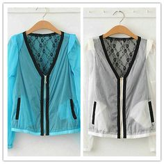 2013 Graceful Color Block Lace Zipper Summer by wholesaledress, $13.99