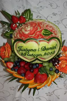 647-271-7971 Watermelon Carving, Fruit Art, Acai Bowl, Foods, Breakfast, Acai Berry Bowl, Food Food, Morning Coffee, Morning Breakfast