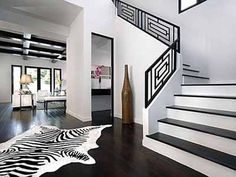 Black-n-White Room Design Ideas, Neutral Modern Interior Color Schemes