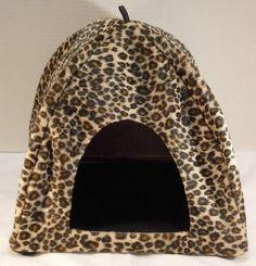 Medium Animal Print Fur Bird Haven Pet Tent